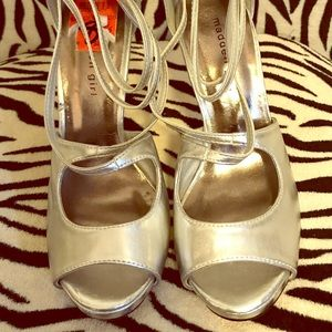 Madden Girl Silver High Heel Sandal
